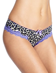 Limited Collection Animal Print Lace Brazilian Knickers
