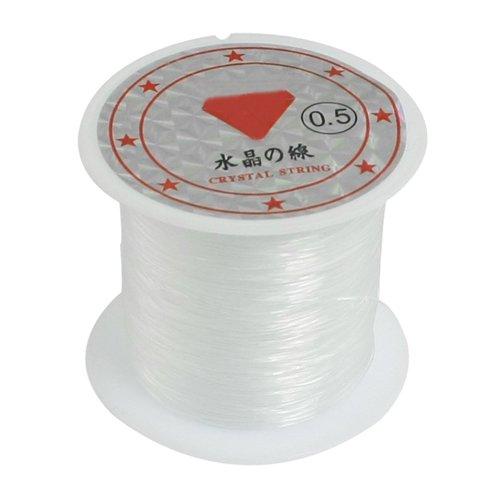 SODIAL(R) 41Lbs Capacity 0.5mm Diameter Clear Nylon Fishing Line Cord Spool