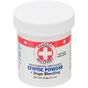 Cardinal Laboratories Remedy and Recovery Professional Groomer's Styptic Powder for Pets, 1.5-Ounce