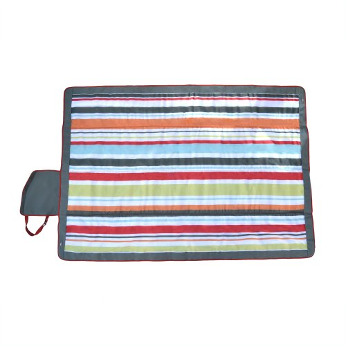 Jj Cole Outdoor Blanket, 7'X'5 Gray/Red