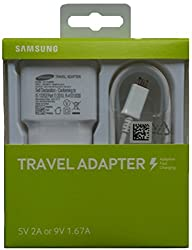 Original Samsung 9Volt 2.0Amp Travel Adapter EP-TA20IWEUGIN with 3 Ft. Micro USB Cable for High Speed Data Sync with Samsung India Warranty