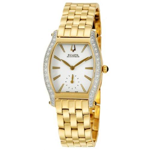 Price Comparisons Accutron by Bulova Saleya Gold Tone & Diamond Womens Watch 65R101