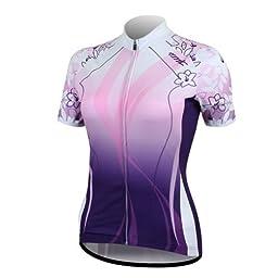 Santic Women Cycling Quick-dry Biking Short-sleeve Jersey Purple Size L by N/A