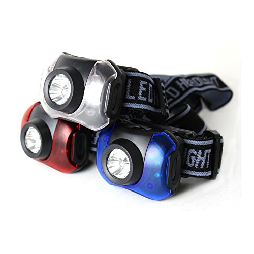 Journey's Edge Hands-Free 7-LED Headlamp Camping Flashlights, Pack of 3 (Headlamps Kids compare prices)