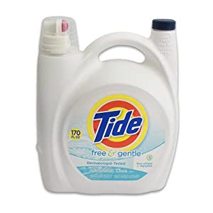 Tide Free and Gentle Liquid Laundry Detergent 170oz