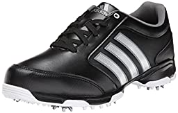 adidas Men\'s Pure 360 Lite  Golf Shoe, Core Black/Metallic Silver/Running White, 9 M US