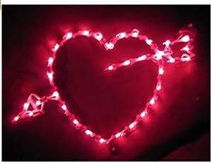 "35 Light Single Side Heart with Arrow - 18"""