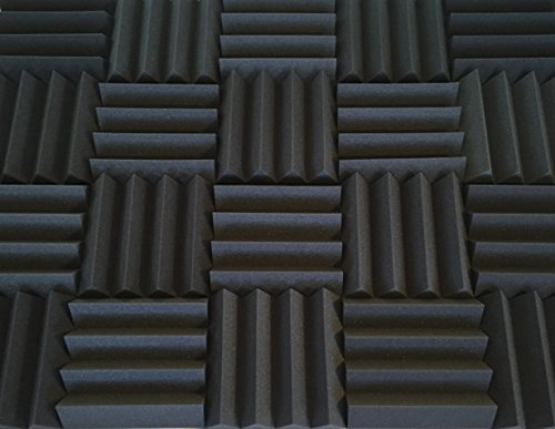 Bass Absorbing Wedge Style Panels - Soundproofing Acoustic Studio Foam - 12