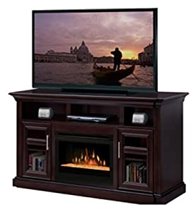 "Bailey 66"" TV Stand with Electric Fireplace Insert Style: Logs"