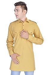 Nishiva Light Yellow Pathani Kurta