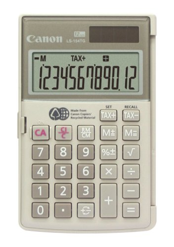 Canon LS-154TG Handheld Calculator – made from the recycled materials of Canon copiers