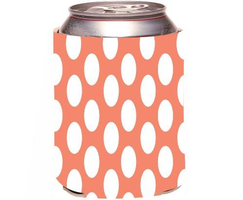 "Rikki Knight ""Tropical Pink Polka Dots Design"" Beer Can Soda Drinks Cooler Koozie front-619281"