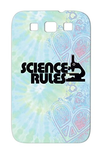 Chemist Microscope Chemistry Science Rules Scientist Careers Professions Chemist Black Science Rules For Sumsang Galaxy S3 Shock-Absorbent Case Cover front-351250