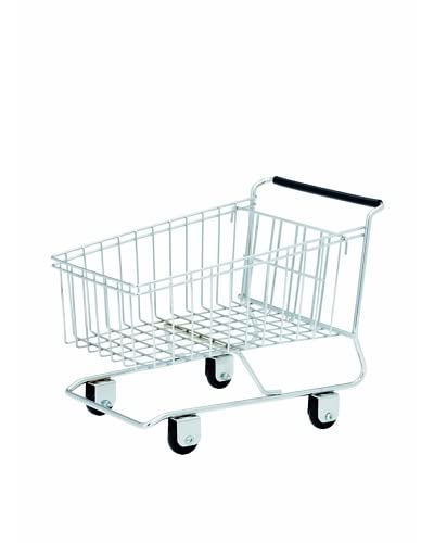 Torre & Tagus Shopping Cart Basket, Silver As You See