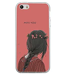 Miss You 2D Hard Polycarbonate Designer Back Case Cover for Apple iPhone 4