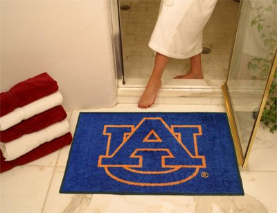 NCAA Auburn Tigers Chromo Jet Printed Rectangular Area Rug Floor Mat 45