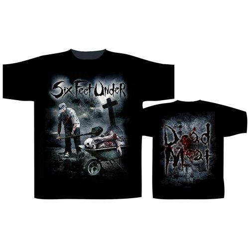 Six Feet Under Men's Dead Meat T-shirt Medium Black (Six Feet Under Tshirt compare prices)