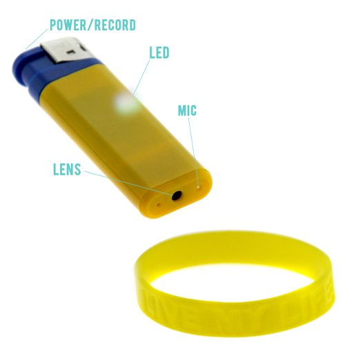 GTMax Mini High Resolution USB Spy Hidden Cam Camcorder Lighter Camera Audio / Video with FREE Wristband