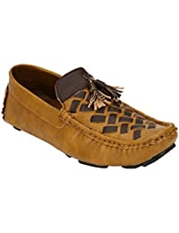 Zebx Comfortable Light Weight Synthetic Leather Slip On Loafers For Men / Boys