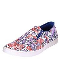 Louis Praiyo White Mens Casual Slip-on Shoes