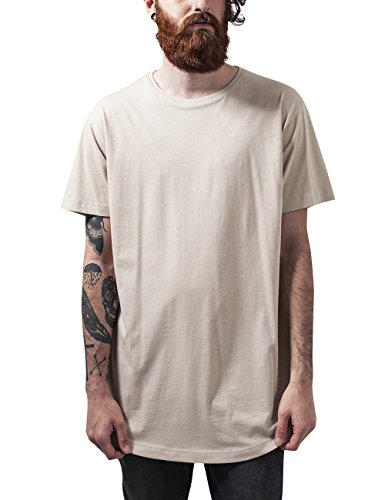 Urban Classics Shaped Long Tee, T-Shirt Uomo, Elfenbein (Sand 208), L
