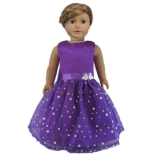 Ebuddy Fashion Butterfly Doll Dresses Fits 18 Inch Doll