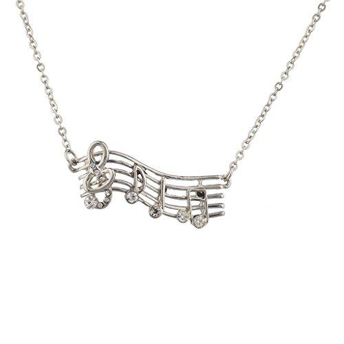 Lux accessori con note musicali Nolvelty collana