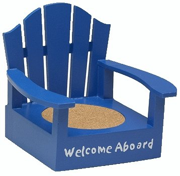 Adirondack Welcome Aboard Nave Blue Color Coaster Chair