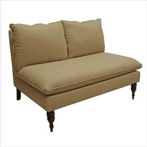 Skyline Furniture 5106LINENSNDSTN Armless Loveseat in Linen Sandstone