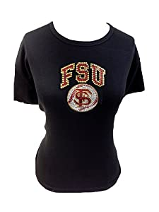 NCAA Florida State Seminoles Ladies Plus Scoop Neck Cap Sleeve Knit Pullover with FSU... by Collegiate Fashionista