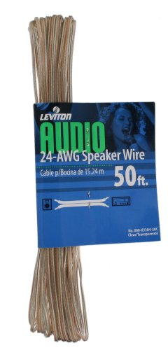 Leviton X3304-50C 50-Foot 24/2 Gauge Speaker Wire
