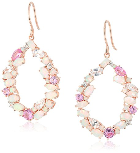 18k-Rose-Gold-Over-Sterling-Silver-Created-Opal-Created-Pink-and-White-Sapphire-Open-Pear-Shape-Drop-Dangle-Earrings