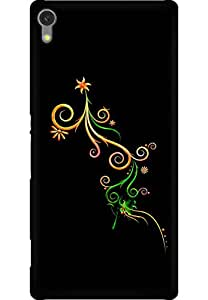 AMEZ designer printed 3d premium high quality back case cover for Sony Xperia C670X (Abstract Dark 18)