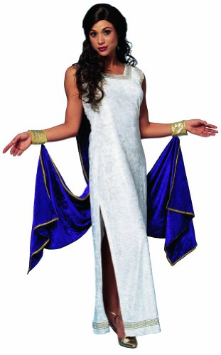 RedSkyTrader Womens Greek Goddess Costume with Drape One Size Fits Most White