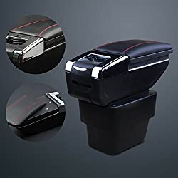 See 9 MOON Car Armrest Leather Console Storage Box decoration for Kia Rio Details