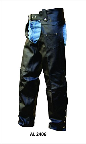 unisex-traditional-lined-split-cowhide-motorcycle-chaps