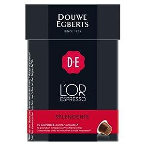 Douwe Egberts L'OR Espresso Splendente, 10 capsules, Nespresso compatible