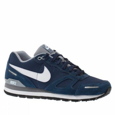 nike trainers shoes mens air waffle trainer leather blue. Black Bedroom Furniture Sets. Home Design Ideas