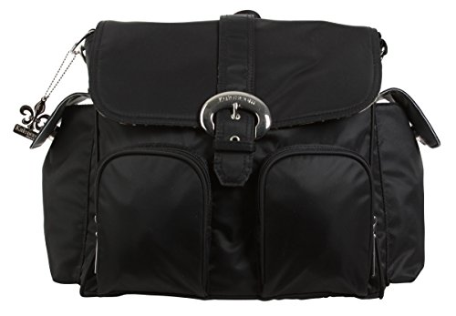 Kalencom Nylon Double Duty Diaper Bag, Black