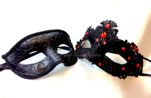 Couple Masquerade Mask Mask for Men and Women Laser Cut Metal Masquerade Mask