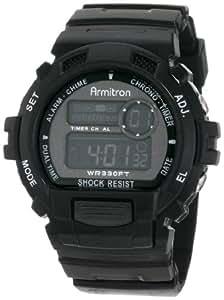 Armitron Sport Men's 408216GMG Black Chronograph Multi-Function Digital Watch