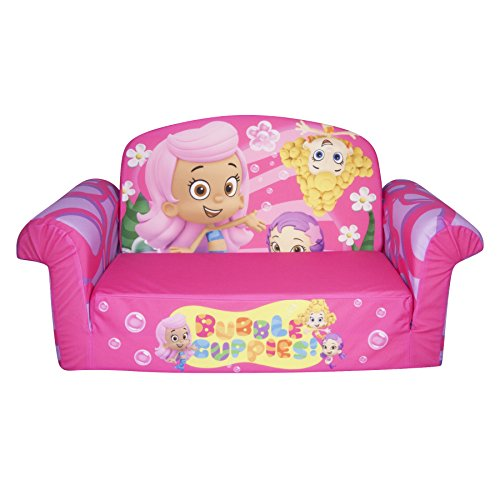 Marshmallow Children's Furniture - 2 in 1 Flip Open Sofa - Nickelodeon Bubble Guppies