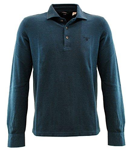 245300434 Gant Polo manica lunga Blu L Uomo