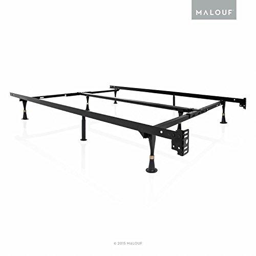 structures heavy duty 8 leg adjustable metal bed frame. Black Bedroom Furniture Sets. Home Design Ideas