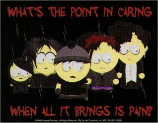 South Park Goth What's The Point In Caring Pain Sticker SS387