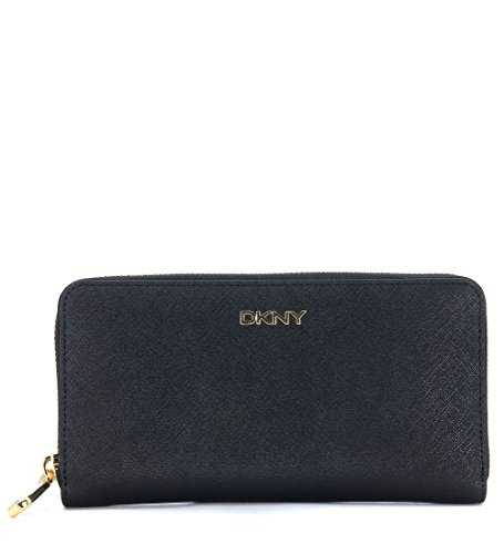 Portafoglio DKNY in pelle saffiano nero