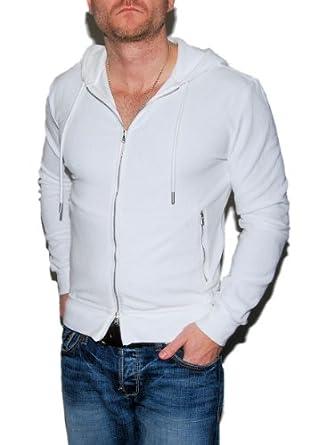Buy Ralph Lauren Purple Label Mens White Fleece Hooded Zip Jacket Sweatshirt by RALPH LAUREN
