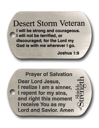 Desert Storm Veteran Dog Tag Necklace