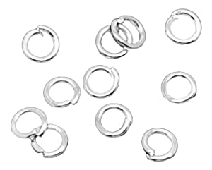 2000 X SILVER PLATED OPEN JUMP RINGS 3.5 X 0.7 MM
