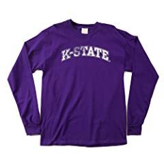 NCAA Kansas State Wildcats 100-Percent Pre-Shrunk Vintage Arch Long Sleeve Tee,... by SDI